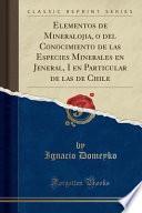 libro Elementos De Mineralojia, O Del Conocimiento De Las Especies Minerales En Jeneral, I En Particular De Las De Chile (classic Reprint)