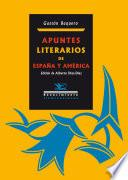 libro Apuntes Literarios De España Y América