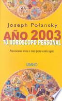 libro Ano 2003