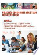 libro Colección Oposiciones Magisterio Educación Física. Tema 22