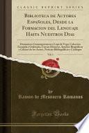 libro Biblioteca De Autores Españoles, Desde La Formacion Del Lenguaje Hasta Nuestros Dias, Vol. 1