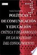 libro Políticas De Comunicación Y Educación