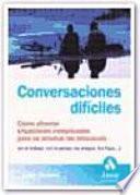 libro Conversaciones DifÍciles