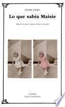 libro Lo Que Sabía Maisie