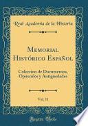 libro Memorial Histórico Español, Vol. 11