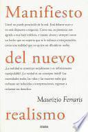 libro Manifiesto Del Nuevo Realismo