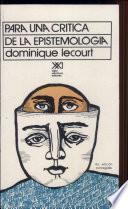 libro Para Una Crítica De La Epistemología