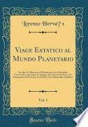libro Viage Esta ́tico Al Mundo Planetario, Vol. 1