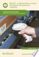 libro Operaciones Y Control De Almacén De Conservas Vegetales. Inav0109