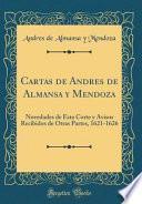 libro Cartas De Andres De Almansa Y Mendoza