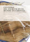 libro Culturas Del Escrito En El Mundo Occidental
