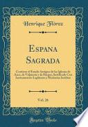 libro Espana Sagrada, Vol. 26