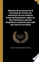libro Spa Relacion De Escritores De