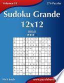 libro Sudoku Grande 12x12   Difícil   Volumen 18   276 Puzzles