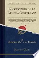 libro Diccionario De La Lengua Castellana, Vol. 2