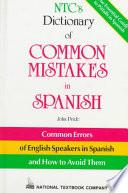 libro Ntc S Dictionary Of Common Mistakes In Spanish