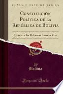libro Constitución Política De La República De Bolivia