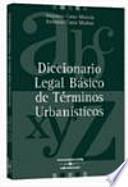 libro Diccionario Legal Básico De Términos Urbanísticos