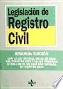 libro Legislacin De Registro Civil / Civil Registration Law