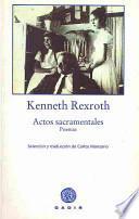 Actos Sacramentales / Sacramental Acts