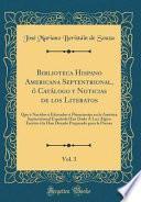 libro Biblioteca Hispano Americana Septentrional, ó Catálogo Y Noticias De Los Literatos, Vol. 3