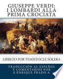 libro Giuseppe Verdi: I Lombardi Alla Prima Crociata