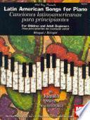 libro Latin American Songs For Piano