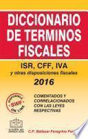 libro Diccionario De Términos Fiscales 2016