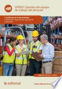 libro Gestión Del Equipo De Trabajo Del Almacén. Coml0309