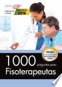 libro 1000 Preguntas Para Fisioterapeutas