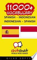 libro 11000+ Spanish Indonesian Indonesian Spanish Vocabulary