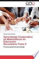 libro Aprendizaje Cooperativo En Matemáticas En Educación Secundaria