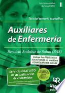 libro Auxiliares De Enfermeria Del Sas. Test Del Temario Especifico