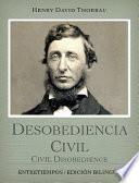 libro Desobediencia Civil