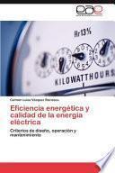 libro Eficiencia Energética Y Calidad De La Energía Eléctric