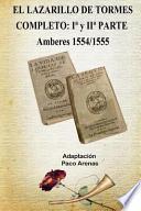 libro El Lazarillo De Tormes Completo I Y Ii Parte Amberes 1554/1555