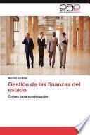 libro Gestión De Las Finanzas Del Estado