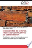 Inestabilidad De Laderas Procesos Constructivos De Estabilización