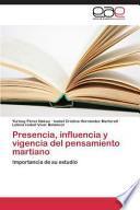 libro Presencia, Influencia Y Vigencia Del Pensamiento Martiano