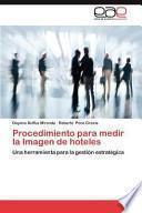 libro Procedimiento Para Medir La Imagen De Hoteles