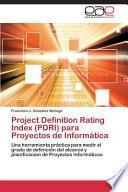 libro Project Definition Rating Index (pdri) Para Proyectos De Informática