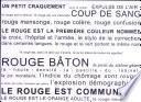 libro Rouge
