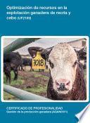 libro Uf2169   Optimización De Recursos En La Explotación Ganadera De Recría Y Cebo.
