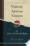 libro Versos, Apenas Versos (classic Reprint)