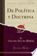 libro De Política Y Doctrina (classic Reprint)