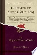 libro La Revista De Buenos Aires, 1869, Vol. 19