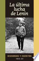 libro La última Lucha De Lenin