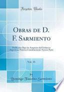 libro Obras De D. F. Sarmiento, Vol. 33
