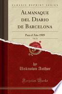 libro Almanaque Del Diario De Barcelona, Vol. 52