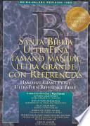 libro Hand Size Giant Print Ultrathin Reference Bible Rv 1960